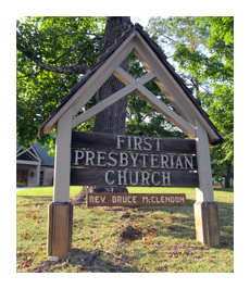 First Presbyterian Church Sign